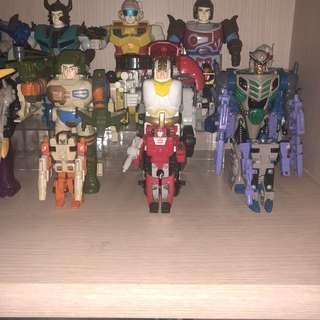 G1 transformers vintage mega pretenders complete