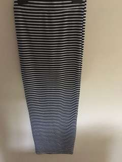Ally stripe maxi skirt with split