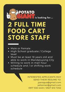 Food Cart Store Staff - Potato Giant