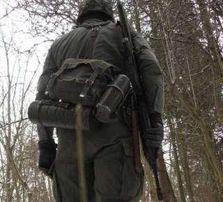 5/10-Vintage 德軍MIL-TEC 復刻西德 帆布 肩背包 腰包 擋車鞍袋