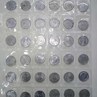 中國二分幣41枚