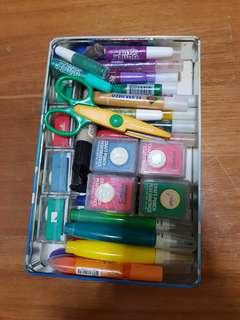Coloured Glue / Paint, Craft Punchers & Scissors.