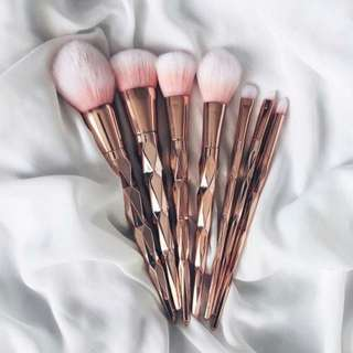 Gold & Pink Luxurious Brush Set ✨