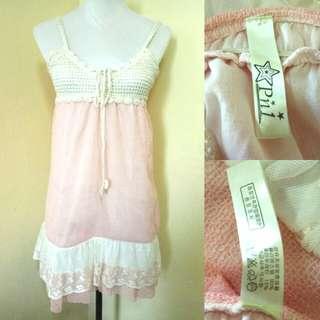 Pastel Pink Crochet Dress
