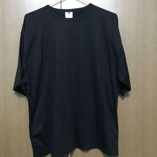 Plain Black Oversized Top