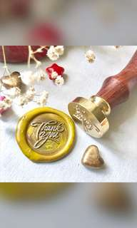 "[PROMO] ""Thank You"" Wax Seal (head + wooden handle)"