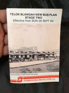 1980 SBS bus plan Telok Blangah
