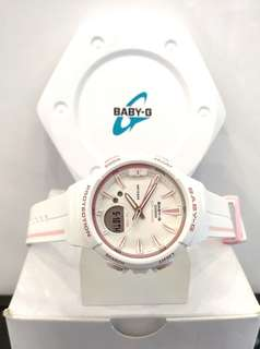 * FREE DELIVERY * Brand New 100% Authentic Casio BabyG Matt White & Pink Index Baby G Ladies Casual Watch Baby-G BGA100RT 7 BGA100RT-7ADR