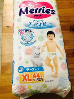 Merries Tape Diaper XL 44pcs