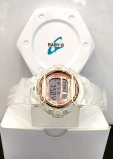 * FREE DELIVERY * Brand New 100% Authentic Casio BabyG Jelly White & Rose Gold Dial Baby G Ladies Casual Watch Baby-G BG169G 7 BG169G-7BDR