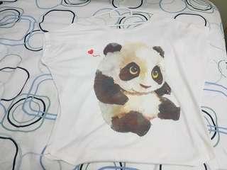Panda free size t shirt