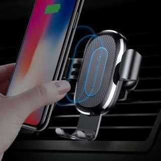 Baseus汽車用手機支架無線充電器