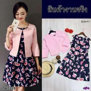 Set dress and blazer ; shop to