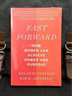 # Highly Recommended《Bran-New + Lessons On Female Action Plan To Be Learned From World Powerful Women 》Verveer & Azzarelli - FAST FORWARD : How Women Can Achieve Power and Purpose