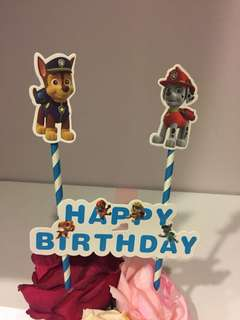 Paw Patrol Birthday Topper