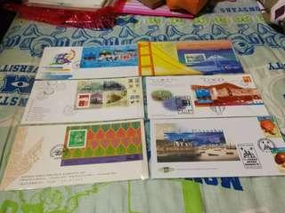 Hong Kong Post stamp 香港郵政郵票套摺首日封 亞特蘭大傷殘人士奧運會 香港經典郵票系列第十輯 曼谷由田1993 青嶼幹線1997通車 香港九七郵展 上海郵展1997 共六個