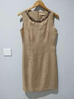 PRELOVED minimal gold party dress