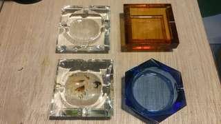 全新水晶煙灰缸$80-150