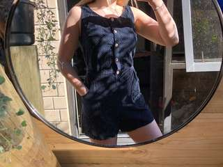 dangerfield spotted playsuit