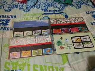 Hong Kong Post stamp香港郵政郵票套摺 香港現代建設 歲次丁丑牛年 歲次戊寅虎年 香港候鳥 共四個 歲次戊寅虎年小全張