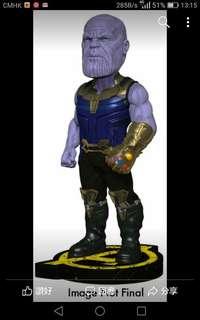 "訂8月NECA Marvel Arengers Infinity War head Knocker Thanos 權力手套,滅覇,重手辨彈弓頭約9""高1款"