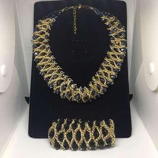 Dress Necklace with Bracelet