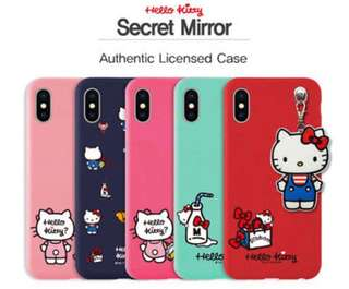iPhone X hello kitty jelly case with mirror