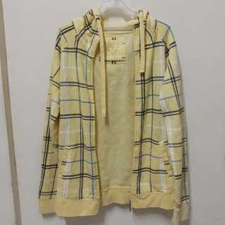 Yellow hoodie jacket