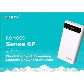 Romoss Sense 6P 20,000mAh LED Display original Power Bank