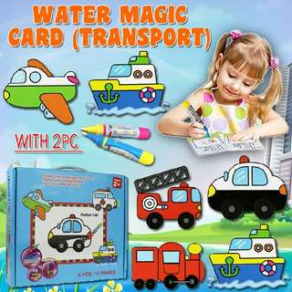 WATER MAGIC CARD (TRANSPORT) WITH 1 PC WATER PEN  Rm27 Pos semenanjung rm8  Pm Wasap 0176725125
