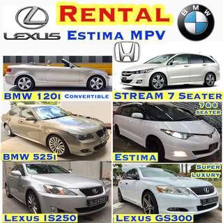 BMW 320i CHEAPEST Car Rental Lease , ✨Estima MPV ($69) ✨Vezel Hybrid ($69) ✨ Honda Accord ($49) ✨Stream ($49) ✨Lexus IS250 ($59) ✨Lexus Super Luxury GS300 ($75) ✨BMW 120i Convertible ($69) ✨