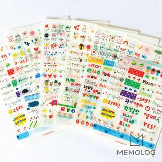 6pcs Decorative Cute Korean Stickers for Planner, Scrapbooking, Journal or Diary