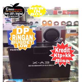 Fujifilm XA3 Kit XC-16-50mm f/3.5-5.6 OIS II Resmi Dikredit Dp 900rb
