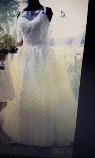 Wedding Gown Detachable Skirt