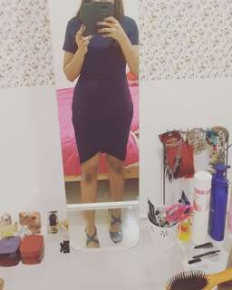 2 item Bodycon dress navy and shoe