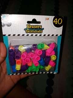 Eraser Gommes by jot 40 ct