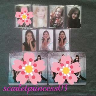 KPOP SNSD Girls Generation Album Photocards