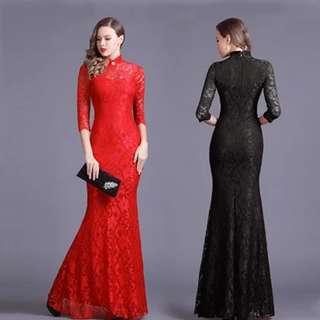 Lace chongsam Dress on sale