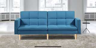 Sofa Bed Fabric Blue *Brand New Boxed*