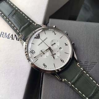Armani Watches Green leather