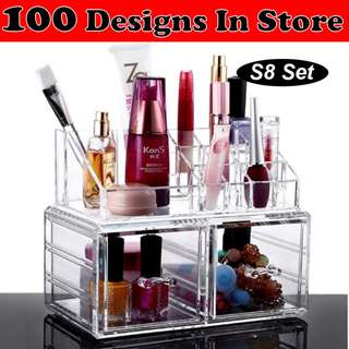 Clear Acrylic Transparent Make Up Makeup Cosmetic Jewellery Jewelry Organiser Organizer Drawer Storage Box Holder (S8)