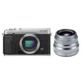 Dikredit Fujifilm XE2S BO Silver + XF 35 f/2.0 Silver New Dp Japri Wa;081905288895