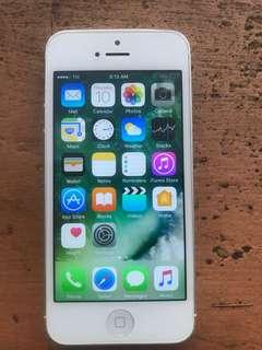 iPhone 5 16GB Silver Globelock