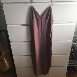 Boohoo satin dress