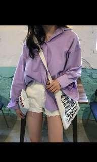 紫色超美襯衫 💜 外套