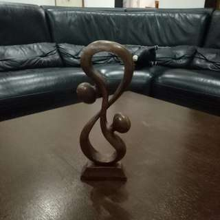 Wooden Auspicious number 8 Display Home Decoration