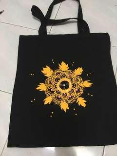 Henna design handmade totebags