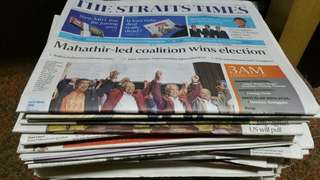 $3 for 6 issues or 5 kg. The Straits Times newspaper