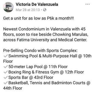 Affordable Condomium in Valenzuela