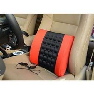 Car Vehicle back Seat Massage Pillow 30x33cm FULL black